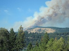 Wildfires in the White Salmon area are a factor in smokey skies over Portland.