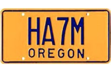 One of the benefits of being a Ham radio operator is being able to get a special license plate.