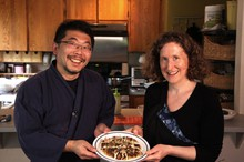 Heidi Nestler and her husband, Daisuke Fukushima, who makes natto at home