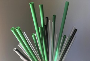 In this May 23, 2018, file photo, plastic drinking straws are photographed in New York.