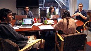"""Students participating in the """"Promising Playwrights Program"""" undergo 10 days of intense workshops, revisions and reviews under the careful eye of Matt Zrebski."""