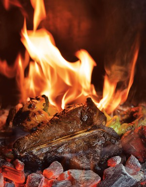 "Excerpted from ""Project Fire: Cutting-Edge Techniques and Sizzling Recipes from the Caveman Porterhouse to Salt Slab Brownie S'Mores"" by Steven Raichlen (Workman Publishing)."