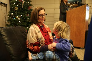 Oregon Gov. Kate Brown announced her request at the largest shelter for homeless families in Multnomah County.