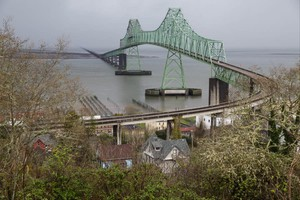 View of the waterfront in Astoria, Ore.