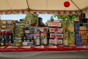 Legal fireworks for sale at the Big Bang tent in Sandy.