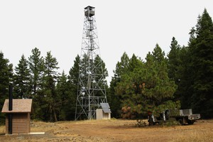 The Tamarack Lookout tower was constructed in 1934 and has been staffed off and on since 1936.