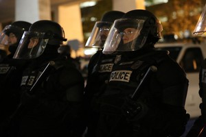 Portland police in SWAT gear on Friday, Nov. 10, 2016