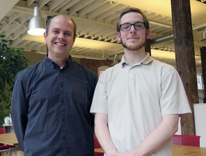 Brian Stevens (left), SERA visualization expert, and software developer Marshall Nystrom.