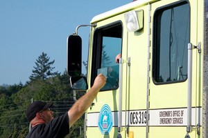 Before fire crews can demobilize, they must show proof their vehicles have gone through the weed wash.