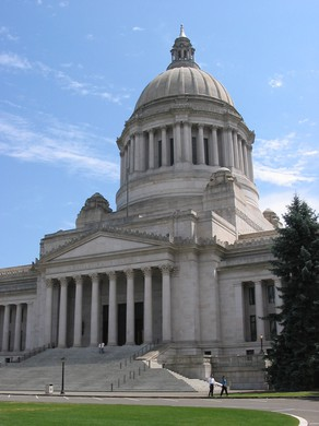 The Washington Statehouse in Olympia, Washington, is pictured in this 2006 photo.