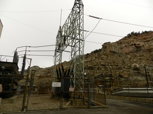 Transmission lines deliver coal-fired power from plants in the Rocky Mountain region.