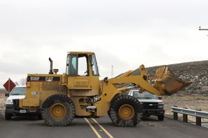 The front end loader and government vehicles blocking the road to the Malheur National Wildlife Refuge were put in place by the occupiers, the FBI said. The FBI briefly opened parts of the refuge to media access the day after the final four occupiers surrendered.