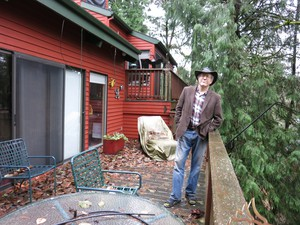 Mark Trexler lives in Lake Oswego on a hill next to a stream. He's trying to figure out whether he's covered if an earthquake causes a landslide that sends his home down the hill.