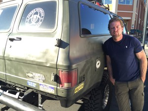 Darryl Ivy stands next to his truck in Tualatin, Oregon. Ivy worked for Applebee Aviation for nearly a month after quitting and releasing hundreds of photos and videos while alleging wrongdoing in aerial herbicide spraying on private forests in Oregon.