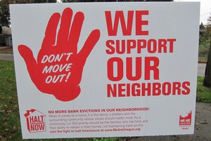 """The group """"We Are Oregon"""" is working with Austin and a half-dozen other Portland families fighting to keep their homes."""