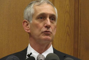 Mayor Charlie Hales at a press conference Tuesday.