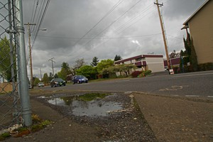Like much of East Portland, the Rosewood neighborhood lacks sidewalks along some stretches of main thoroughfares (file photo).