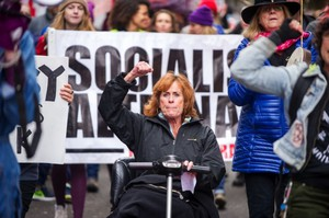 Women demonstrated Dec. 3 in downtown Portland during the Portland Women's March Against Hate. This Saturday, tens of thousands from around the region are expected to attend the Women's March on Portland.
