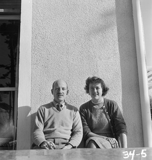 """A photo from """"France is a Feast: The Photographic Journey of Paul and Julia Child."""" Paul and Julia in Marseille, 1950."""
