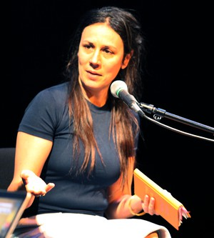 "A contributor to the New Yorker, Rivka Galchen, if this author of this year's, ""Little Labors"", and the 2008 novel, ""Atmospheric Disturbances""."