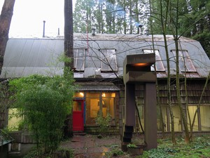 The half-dozen structures comprising Kelly's studio comprise his personal studio, and residence space administrated by Pacific Northwest College of Art.
