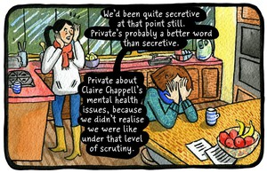 """A panel from """"Reported Missing"""", by Eleri Harris."""