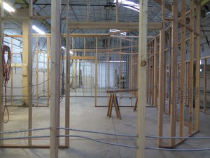 The second phase of renovation for creative spaces at Ken Unkeles' property at the NW Marine Ironworks.