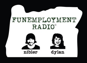 """Greg Nibler and Sarah X Dylan are the hosts of """"Funemployment Radio""""."""