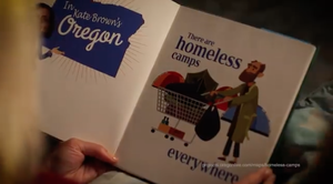 """Priority Oregon posted an ad titled """"Scary"""" onits Facebook page on Aug. 17, 2018."""