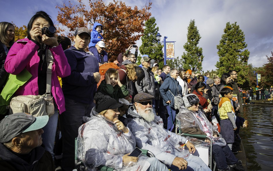 Thousands of attendees came from around the nation to cheer on the giant pumpkin racers.