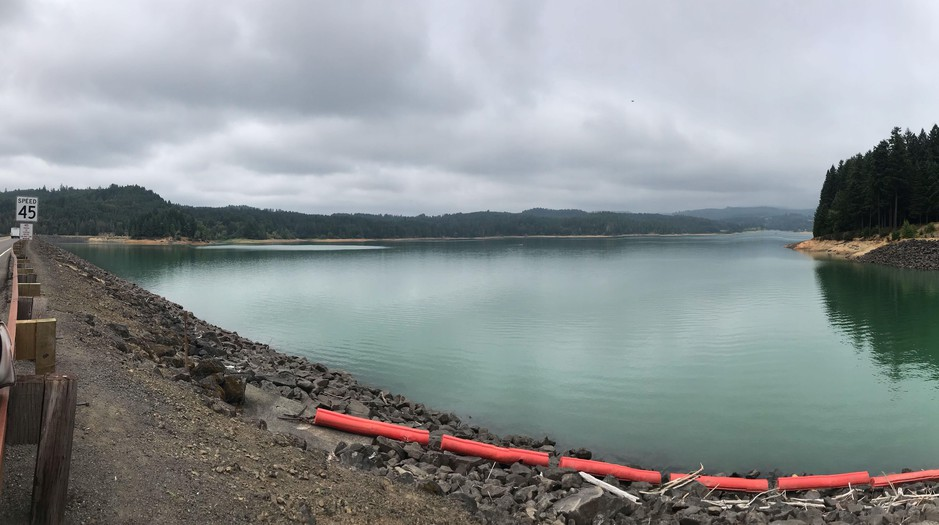 Hagg Lake is pictured near Gaston, Ore., in Washington County on Wednesday, Aug. 2, 2019. The dam that created the lake is at risk of failure in an earthquake, so government officials are considering retrofitting options.
