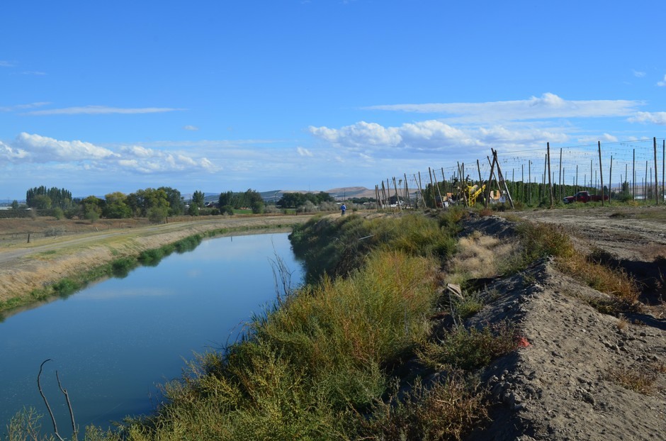 The Carpenter family relies on irrigation canals to bring water from the mountains to their hops farm in the otherwise arid Yakima Valley.