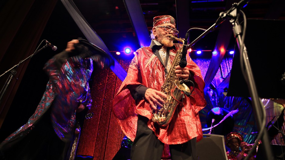 The Sun Ra Arkestra, a collective of musicians and artists, is responsible for an astonishing range of work — records, of course, but also poetry, avant-garde fashion, and reams of hand-painted original artwork for the ensembles' albums.