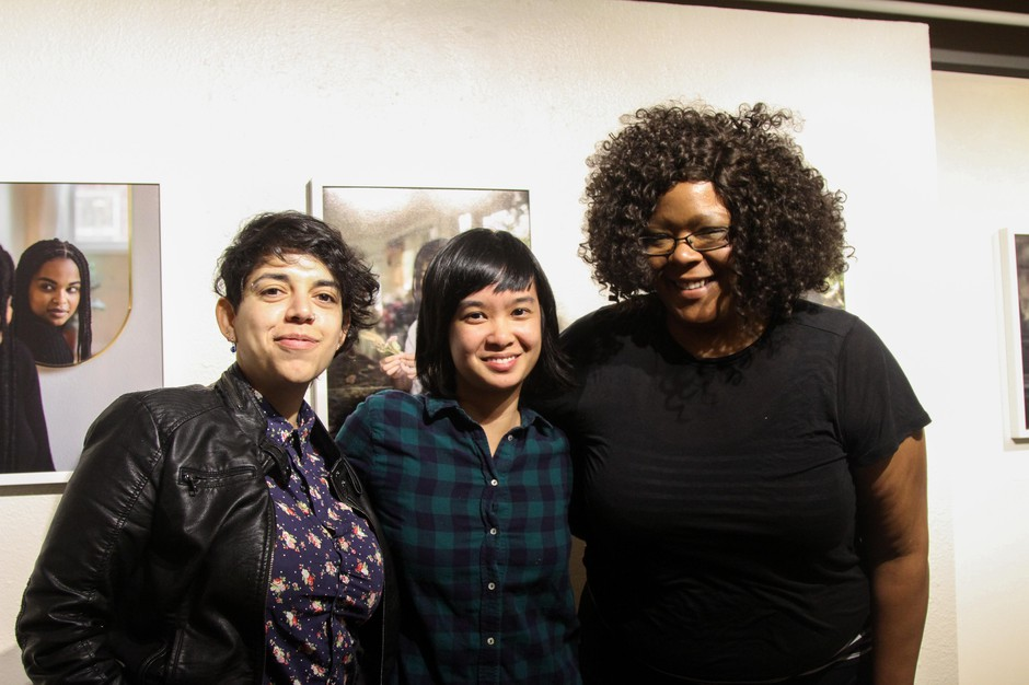 Stacey Tran (center) invited some of her favorite storytellers from Tender Table: Mercedes Orozco (left) and Leslie Stevenson (right).