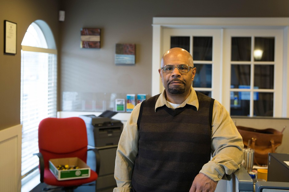 Michael Braxton, the executive director and founder of the nonprofit Empowerment Clinic, at his office in Southeast Portland.