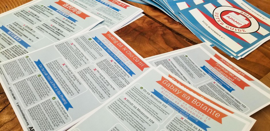 APANO publishes voter guides in several languages for communities who have long felt marginalized in Oregon politics.