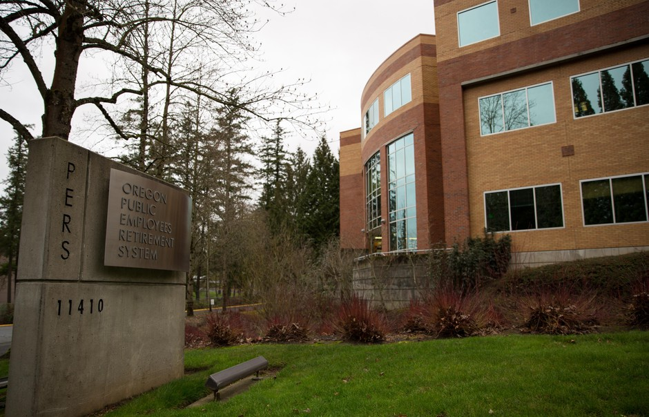 The Oregon Public Employees Retirement System (PERS) building in Tigard, Oregon, on Sunday, Jan. 6, 2019.