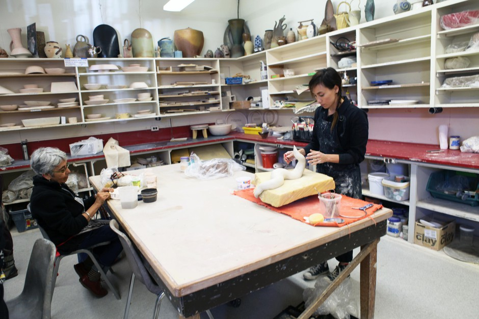 The Multnomah Arts Center, in southwest Portland's Multnomah Village, has offered arts and craft instruction at a former schoolhouse since 1982.