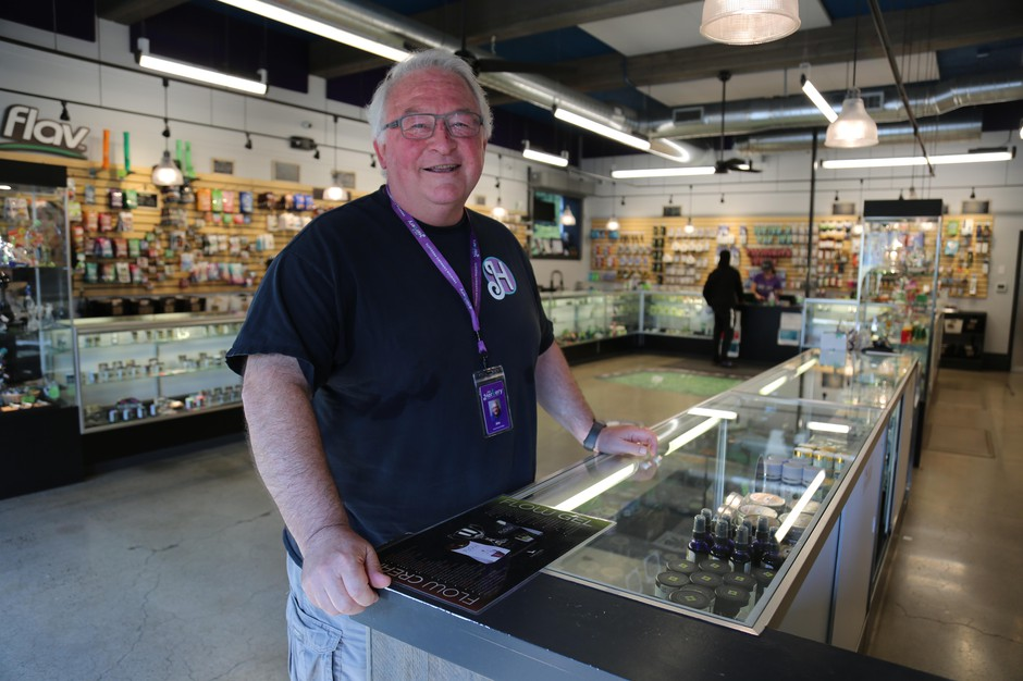 Owner Jim Mullen runs The Herbery, a cannabis shop in Vancouver. He currently has three locations and is hoping to open a fourth if Clark County votes to lift its ban in unincorporated areas.
