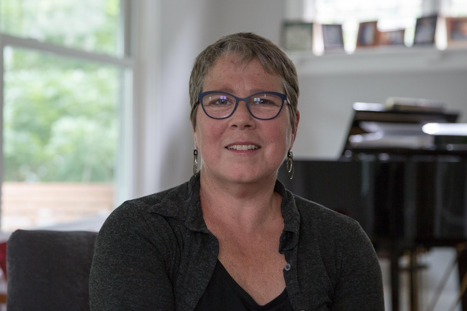 Cleveland High School parent Catherine Greenblatt at her home in Portland, Ore., Tuesday, July 9, 2019. Greenblatt sees recent incidents of hate as a chance for Portland Public Schools to examine and retool its curriculum.