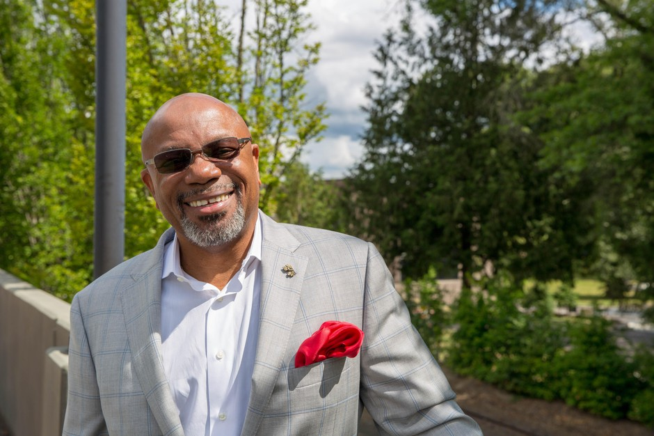 Linfield College President Miles Davis is entering his second year at the McMinnville school.