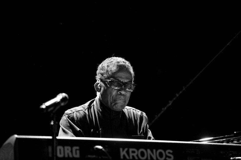 Herbie Hancock settles into play at the Oregon Zoo in Portland on Aug. 17, 2019. Hancock stopped through Portland on his worldwide tour that featured Kamasi Washington.