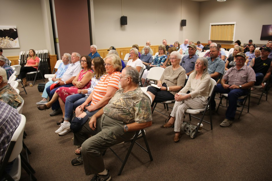 A town hall meeting with Rep. Greg Walden, R-Hood River, in Burns, Ore., on Thursday, Aug. 29, 2019.