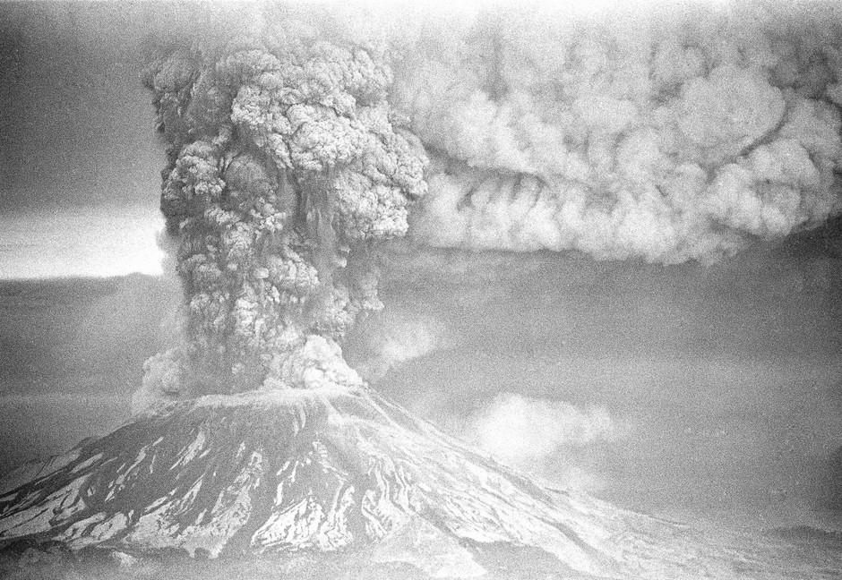 In this May 19, 1980 file photo, Mount St. Helens erupts in Washington, sending a plume of ash many miles skyward.