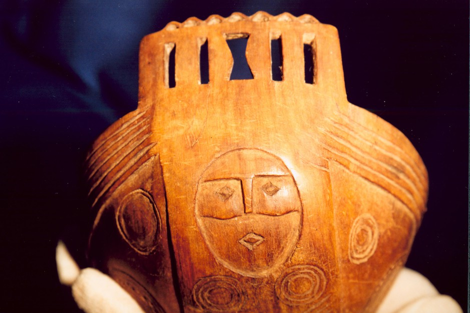 A horn bowl from the new exhibit at the museum on the Grand Ronde reservation.