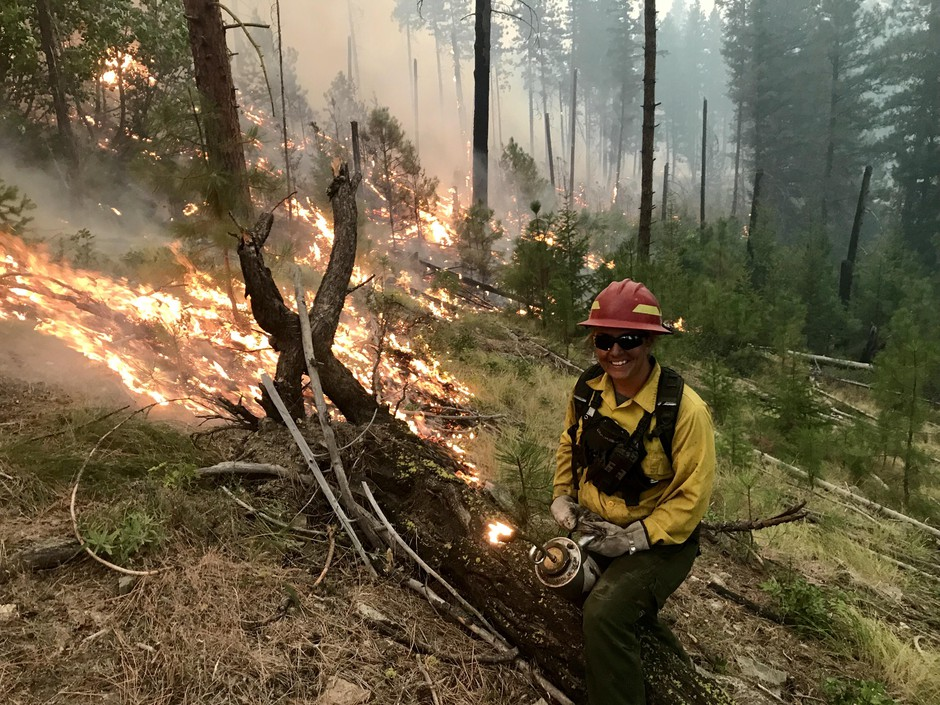 Judy Hoffman says firefighting saved her life. She's dedicated to the job, even when it means saving money to keep her covered during slow years.
