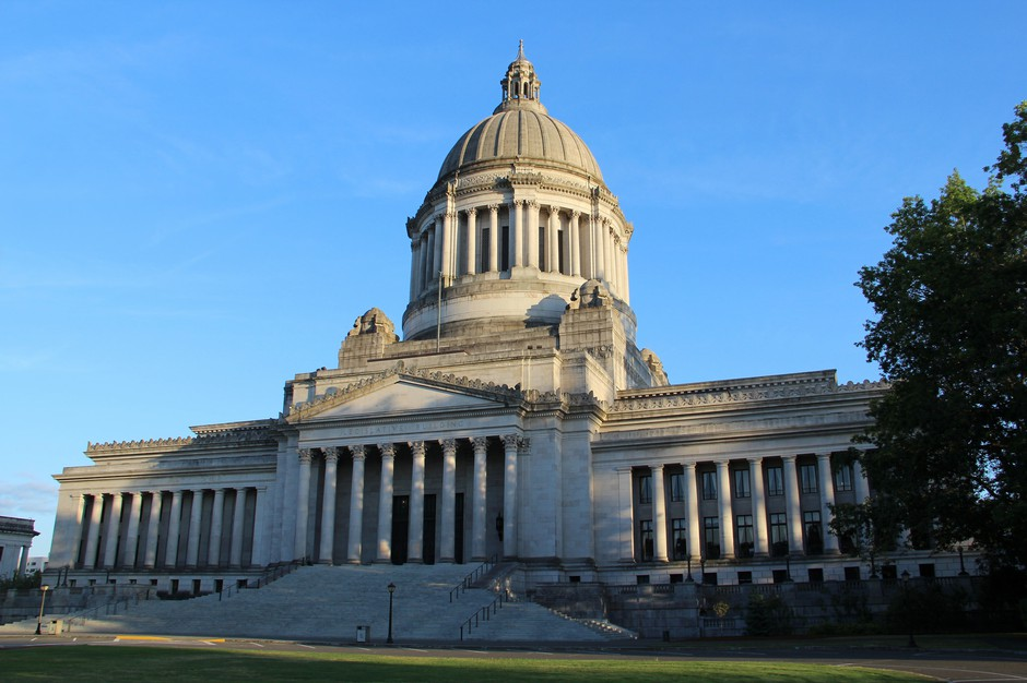 The Washington State Capitol is pictured on the Capitol Campus in Olympia, Washington, in this Aug. 10, 2014, file photo.