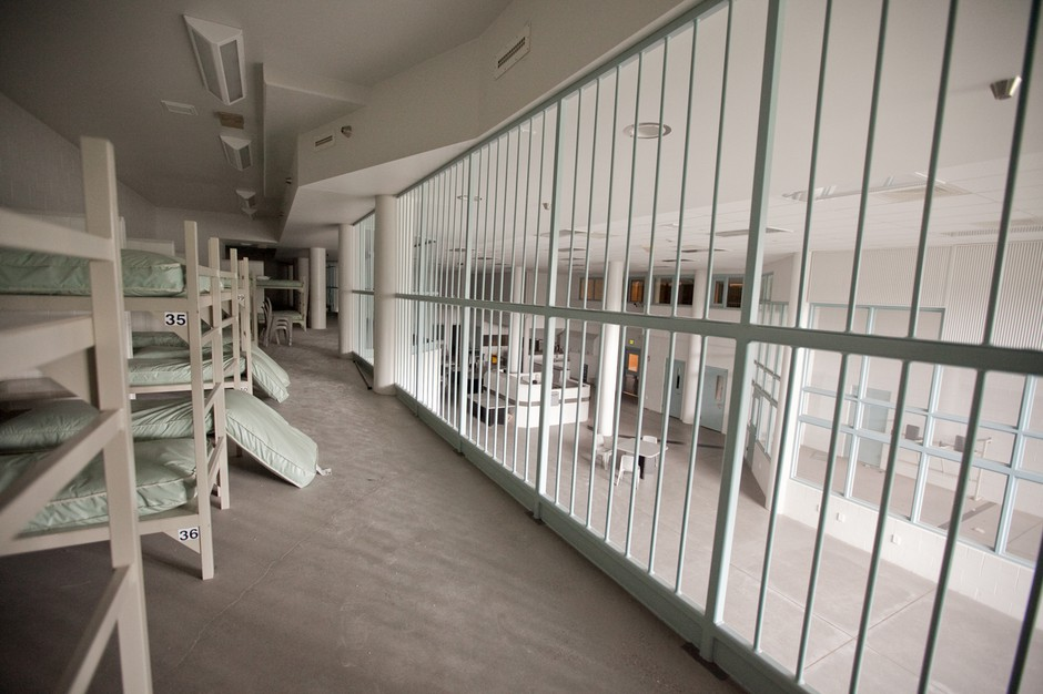 The interior of the Wapato Jail in 2014.