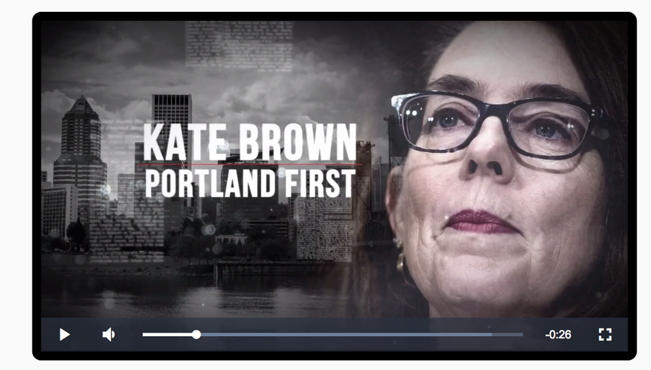 """Screenshot from a 30-second TV ad paid for by the """"Knute Buehler for Governor"""" campaign."""