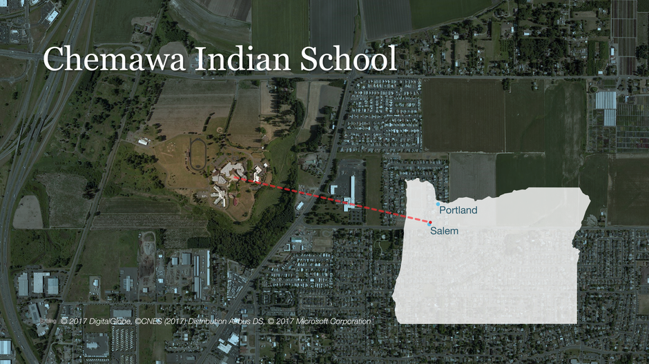 Chemawa Indian School is located just north of Salem off of I-5.